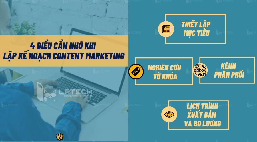 """4 điều """"khắc cốt ghi tâm"""" khi lập kế hoạch Content Marketing"""