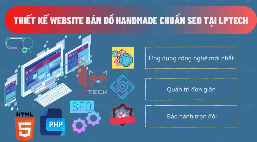 Dịch vụ thiết kế website bán đồ handmade tại LPTech