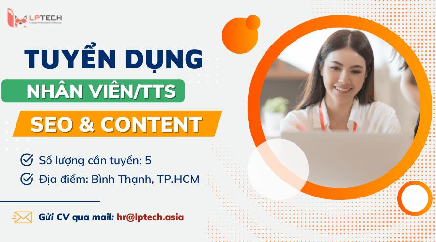 tuyển dụng nhân viên seo và content