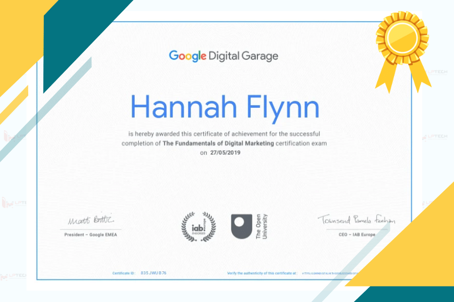 chứng chỉ google digital garage